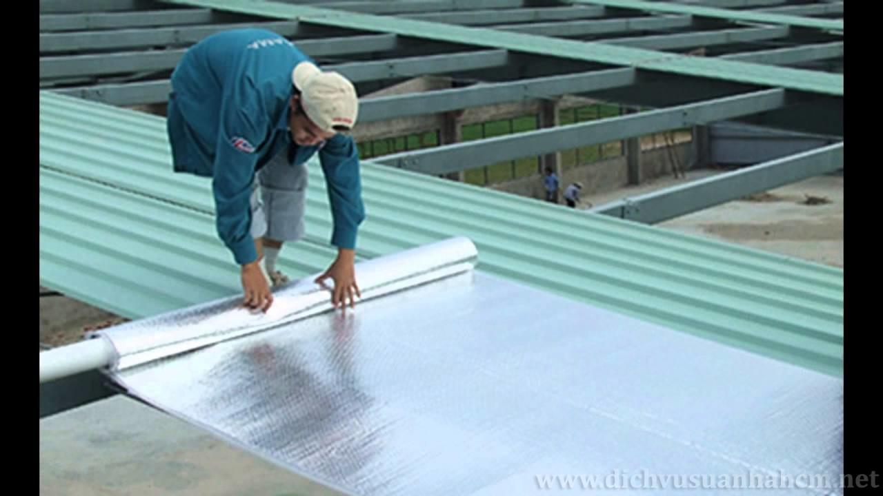 Chống dột mái tôn đơn giản với tấm dán chống dột
