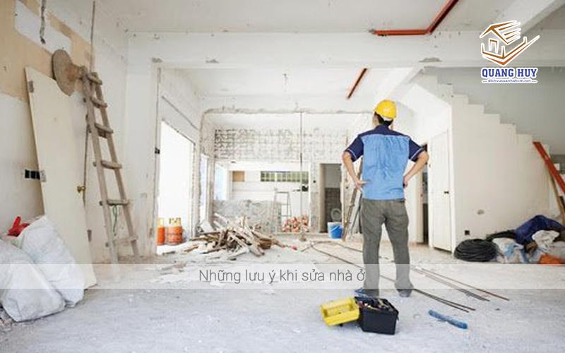 Những lưu ý khi sửa nhà ở