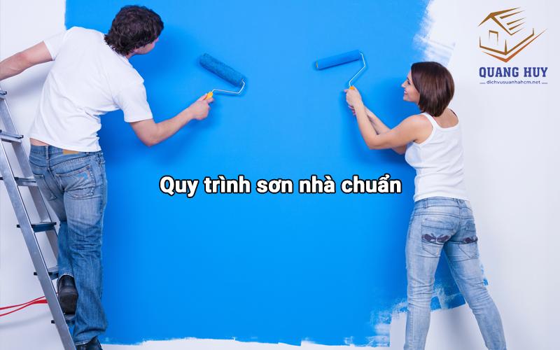 Quy trình sơn nhà chuẩn